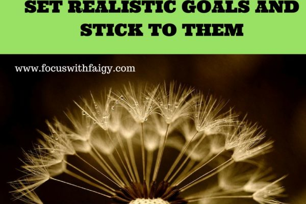 set realistic goals and stick to them
